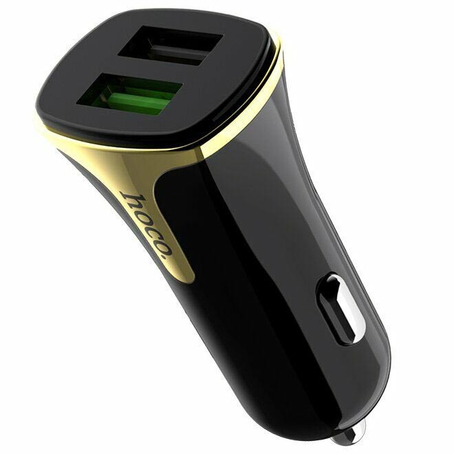 Hoco Z31 3,4А QC3.0 3,4А (2USB) black (без кабеля)