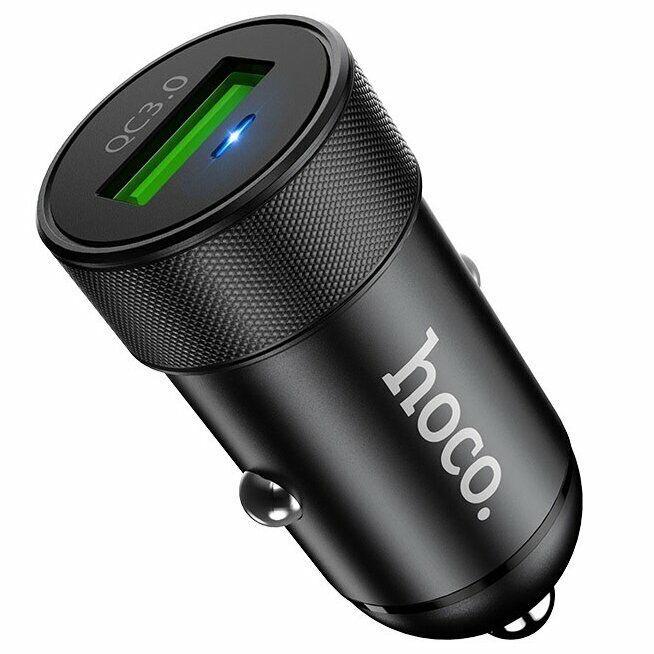 Hoco Z32 Speed Up 1USB/18W/3A/QC3.0 Black (без кабеля)