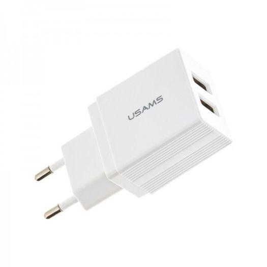 USAMS US CC090 T24 2.1A Dual USB White
