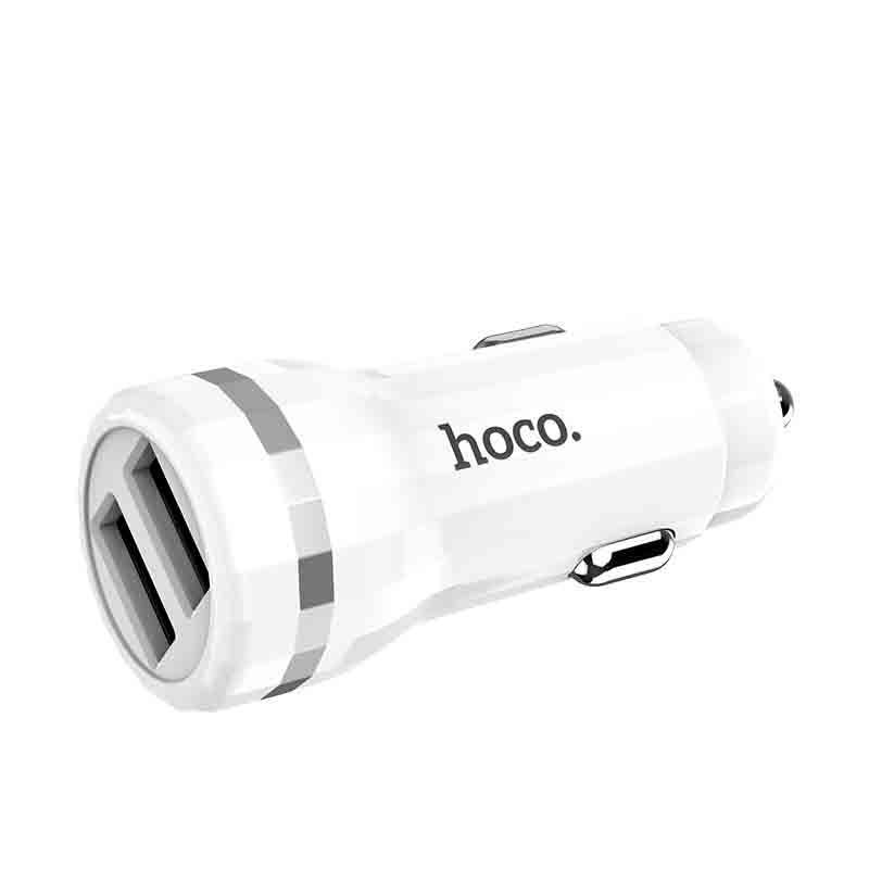 Hoco Z27 2USB Staunch 1USB, 3A QC3.0 18W White (без кабелю)