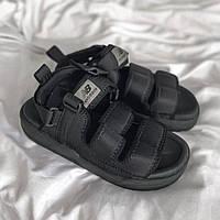 Модні зручні жіночі сандалі New Balance текстильні чорні | Літні відкриті босоніжки Нью Баланс