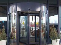 Автоматические карусельные двери KA023 на три створки, d=1800мм