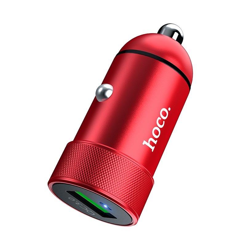 Hoco Z32 Speed Up 1USB/18W/3A/QC3.0 Red (без кабеля)