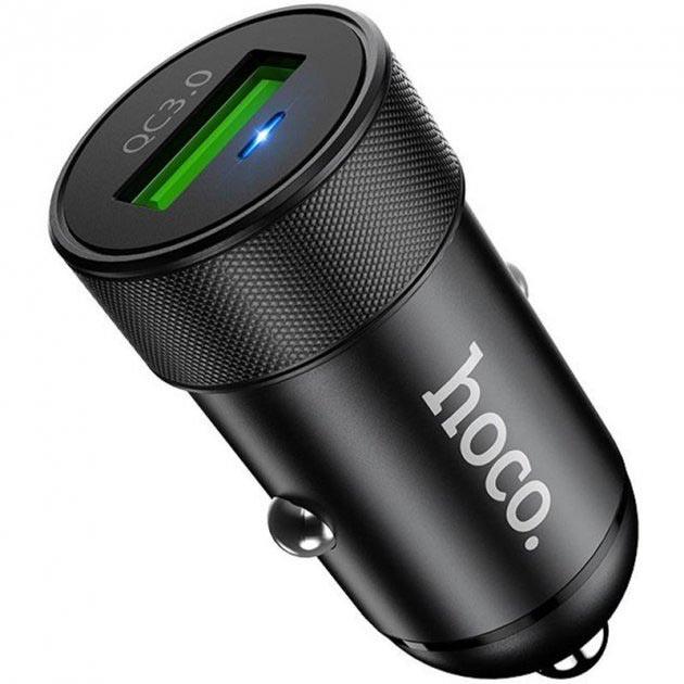 Hoco Z32A Flash Power Fully Compatible 1USB/18W/4A/QC3.0 Black (без кабеля)