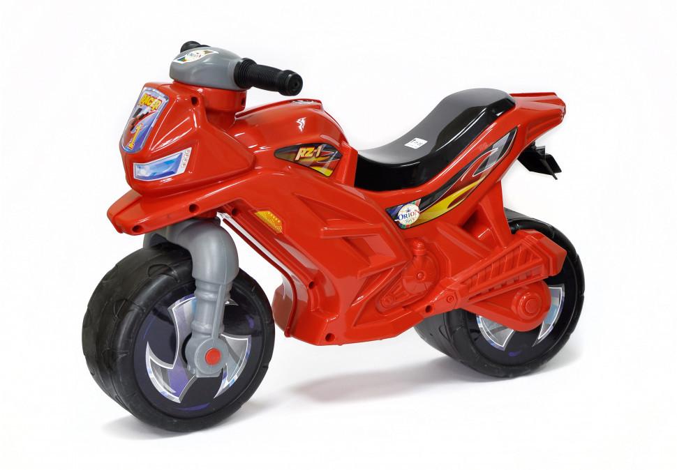 Детский беговел мотоцикл музыкальный 501R Красный