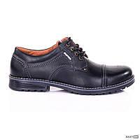 Чоловічі шкіряні туфлі City USA black, фото 1
