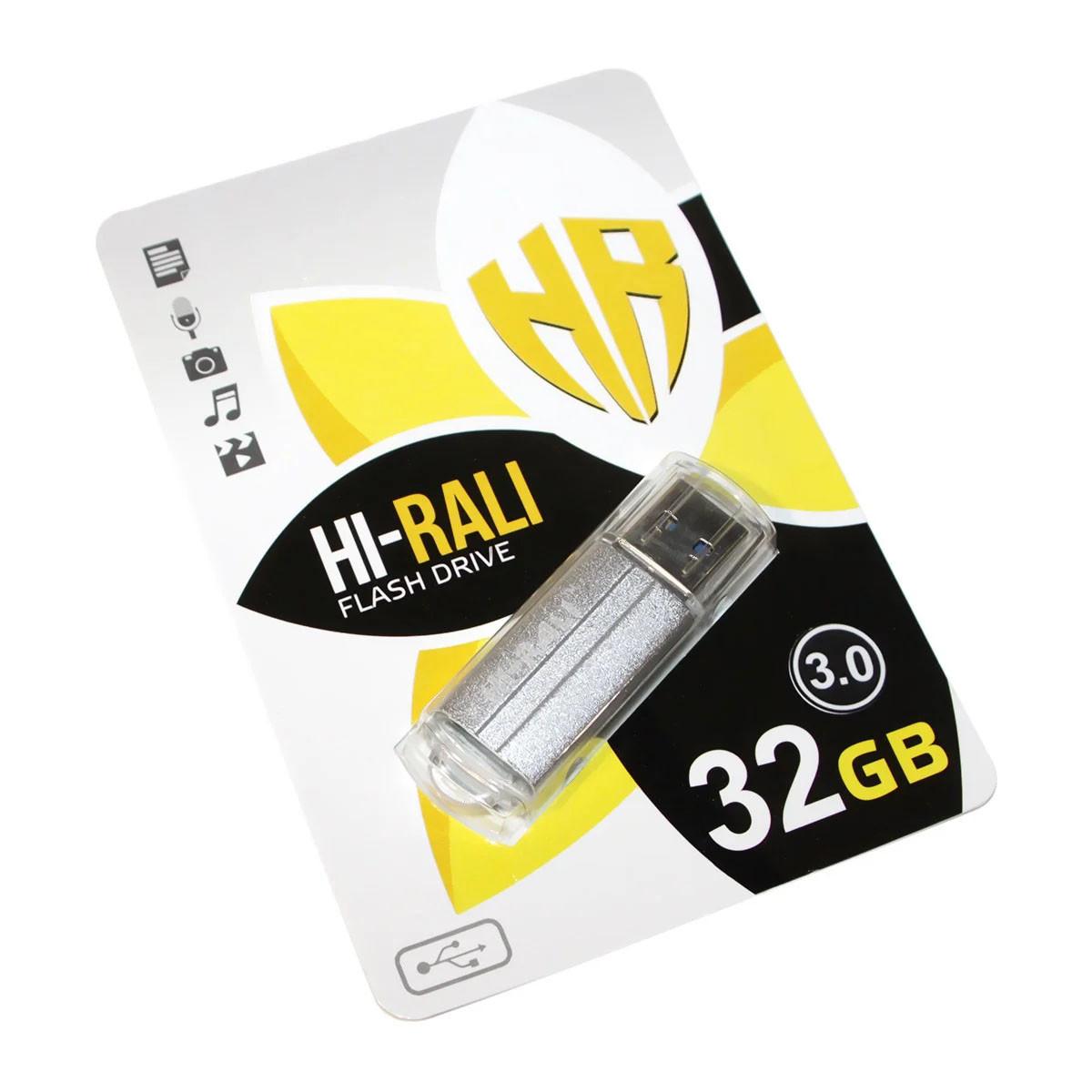 Флешка HI-RALI 32 ГБ Corsair series Silver