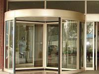 Автоматические карусельные двери KA023 на три створки, d=2100мм