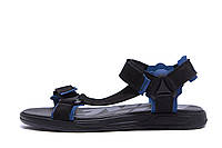 Чоловічі шкіряні сандалі Nike Track Black (репліка), фото 1