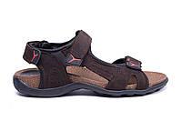 Чоловічі шкіряні сандалі E-series Active Drive Brown (репліка)