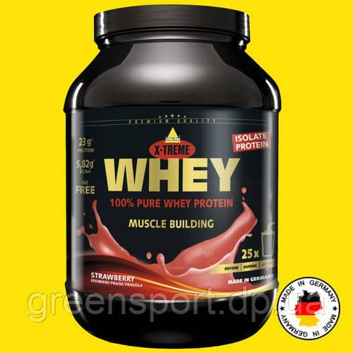 Сироватковий протеїн Inkospor Whey Protein 750г Полуниця Преміум ізолят + концентрат