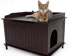 Деревянные домики для кошек