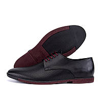 Чоловічі шкіряні літні туфлі VanKristi classic black, фото 1