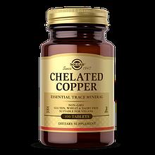 Минералы Меди хелат Chelated Copper Solgar 100 таблеток