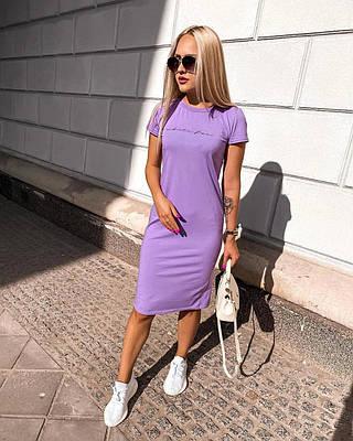 Женское платье-футболка в спортивном стиле