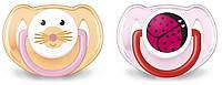 Пустышка Классик Avent (2 шт), силикон, розовая, 6-18 мес