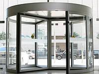 Автоматические карусельные двери КББ на три створки, d=3000мм