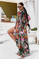 Пляжная туника  в пол в расцветках  208056А