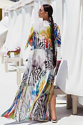 Пляжная туника  в пол в расцветках  208056К