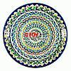 Ляган (узбецька тарілка) 37х4см для подачі плову керамічний (ручна розпис) (варіант 3)
