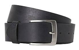 Шкіряний чоловічий ремінь для брюк H&M чорний