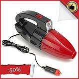 Автомобильный ручной пылесос Vacuum cleaner car accessories с фонарем, автопылесос от прикуривателя 12V (12В), фото 3