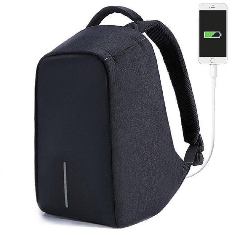 Універсальний рюкзак Протикрадій для роботи, навчання і подорожей. Рюкзак-протикрадій з USB портом Bobby Back