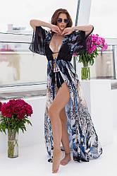 Пляжная туника  в пол в расцветках  208056М