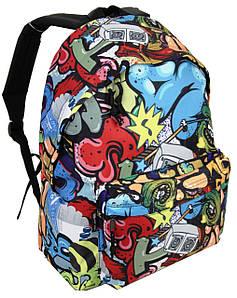 Молодежный рюкзак с ярким принтом 20L Corvet, BP2153-GF