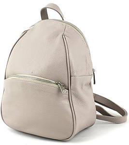 Женский кожаный рюкзак Borsacomoda светло серый 9 л 814.019