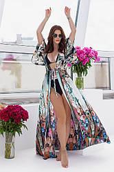 Пляжная туника  в пол в расцветках  208056с