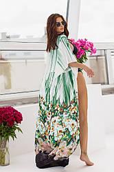 Пляжная туника  в пол в расцветках  208056т