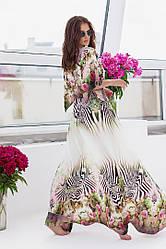 Пляжная туника  в пол в расцветках  208056В