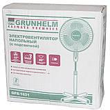 Вентилятор бытовой напольный с пультом GRUNHELM GH-1621. Вентилятор электрический комнатный поворотный, фото 5