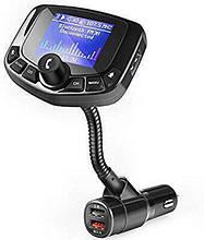 FM трансмітер для авто, автомобільний плеєр чорний. Модулятор для Автомобіля