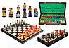 Шахматы 3137 МАТРЕШКИ коричневые 40x20x5см (король-85мм)