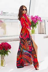 Пляжная туника  в пол в расцветках  208056д