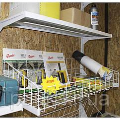 Корзина сетчатая для стеллажа Ристел 950х400 мм, овощная сетчатая корзина на стеллаж