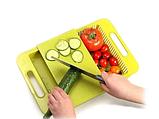 Обробна дошка на мийку, пластикова, для нарізання овочів, фото 2