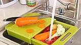 Обробна дошка на мийку, пластикова, для нарізання овочів, фото 4