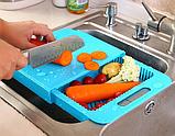 Обробна дошка на мийку, пластикова, для нарізання овочів, фото 5