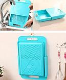 Обробна дошка на мийку, пластикова, для нарізання овочів, фото 7
