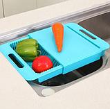 Обробна дошка на мийку, пластикова, для нарізання овочів, фото 8