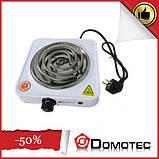 Переносная настольная электроплита Domotec MS 5801 спираль, кухонная бытовая плита, фото 2