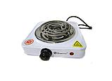 Переносная настольная электроплита Domotec MS 5801 спираль, кухонная бытовая плита, фото 4