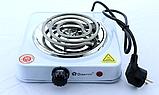 Електроплита Domotec MS 5801 спіраль, кухонна плита настільна, фото 5