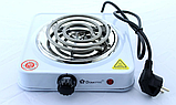 Переносная настольная электроплита Domotec MS 5801 спираль, кухонная бытовая плита, фото 5