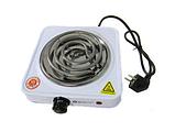 Переносная настольная электроплита Domotec MS 5801 спираль, кухонная бытовая плита, фото 6