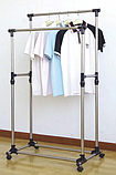 Телескопічна стійка, вішалка для одягу і взуття - Double Pole Clothes Horse 160х72см, фото 3