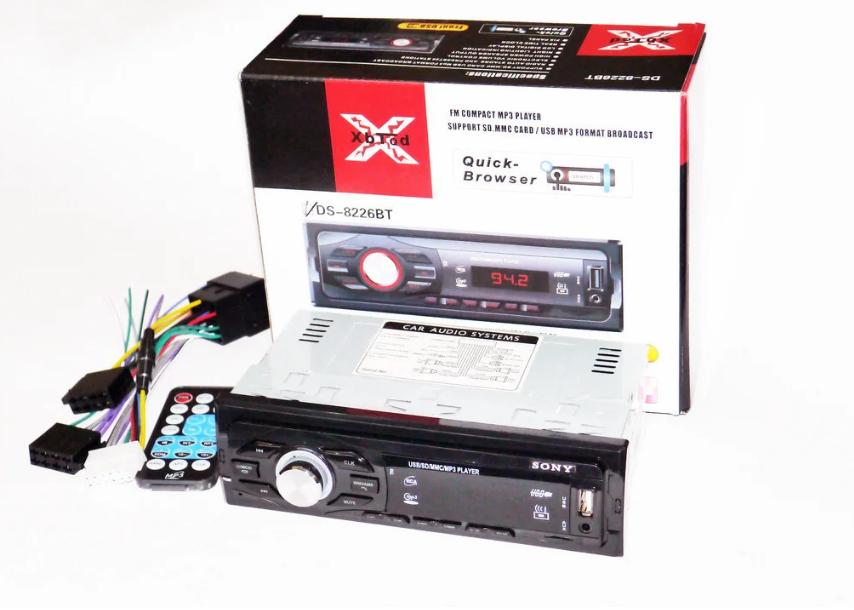 Автомагнітола DC-8226BT ISO USB MP3 FM, USB, SD, AUX BLUETOOTH магнитола для авто з пультом управління